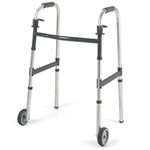 "Invacare Dual-Release Walker with 5"" Fixed Wheels"