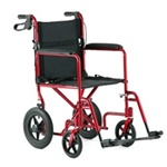 "Invacare Aluminum Transport Chair with 12"" Rear Wheels"